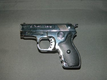 Chrome Gun Pistol Shaped Jet Torch Lighter With Red Laser USA Stocked