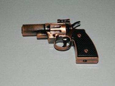 Brass Color Small Gun Pistol Shaped Jet Torch Lighter
