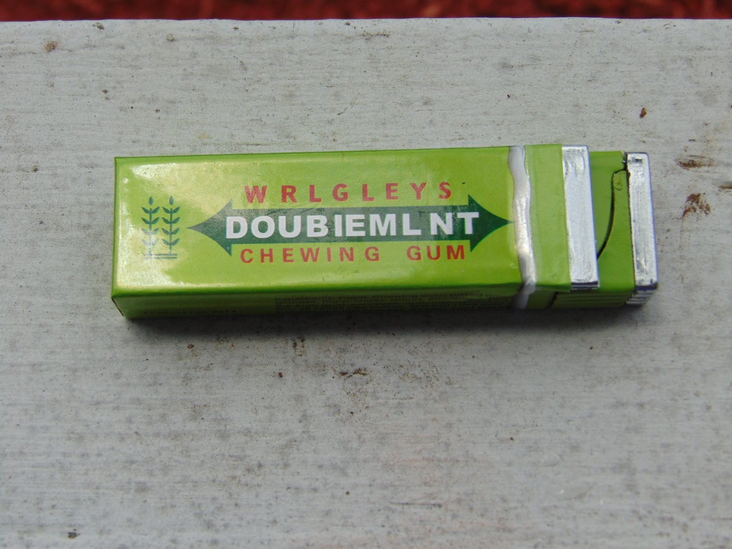 Green Doublemint Chewing Gum Shaped Butane Lighter USA Stocked and Shipped