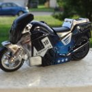 Blue Racing Motorcycle Jet Torch Lighter With LED Headlight