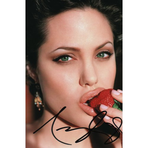 FILM ACTRESS ANGELINA JOLIE SIGNED 4X6 PHOTO + COA