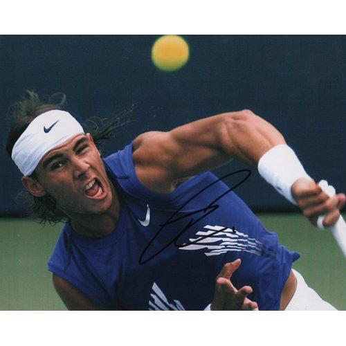 WORLDS # 1 TENNIS PLAYER RAFAEL NADAL SIGNED 8x10 PHOTO