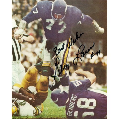 MINNESOTA VIKINGS GARY LARSEN SIGNED 8x10 PHOTO + COA