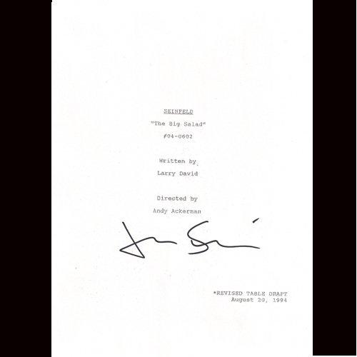 SEINFELD JERRY SEINFELD SIGNED SCRIPT + COA