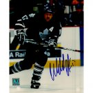 TORONTO MAPLE LEAFS WENDEL CLARK SIGNED 8x10 PHOTO + COA