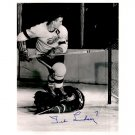 DETROIT REDWINGS TED LINDSAY SIGNED 8x10 PHOTO + COA