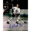 TORONTO MAPLE LEAFS EDDIE SHACK SIGNED 8x10 PHOTO + COA