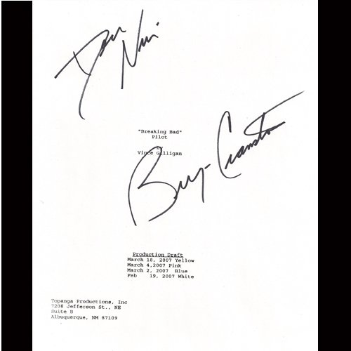 BREAKING BAD SIGNED SCRIPT (2) SIGNATURES + COA
