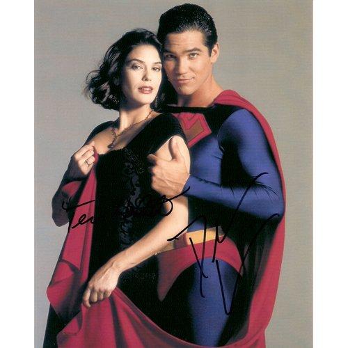 SUPERMAN DEAN CAIN & TERRI HATCHER SIGNED 8x10 PHOTO