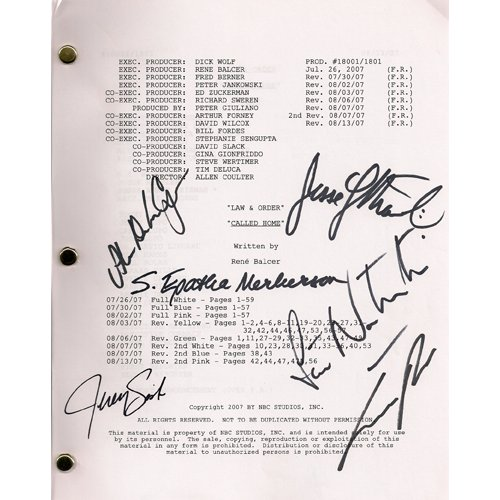 LAW & ORDER SIGNED SCRIPT (6) SIGNATURES + COA