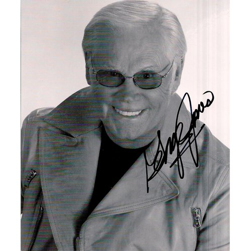 GEORGE JONES SIGNED 8x10 PHOTO + COA