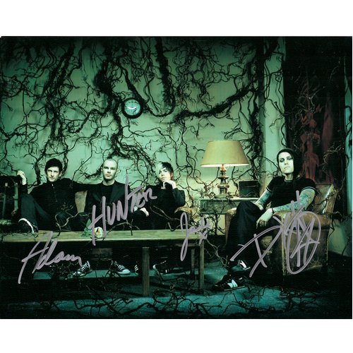 ROCK GROUP AFI SIGNED 8x10 PHOTO + COA