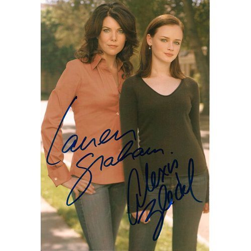 GILMORE GIRLS ALEXIS BLEDEL + LAUREN GRAHAM SIGNED 4X6 PHOTO + COA