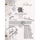 BOSTON LEGAL SIGNED SCRIPT (8) SIGNATURES + COA