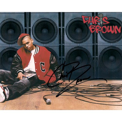RnB Artist CHRIS BROWN SIGNED 8X10 PHOTO + COA