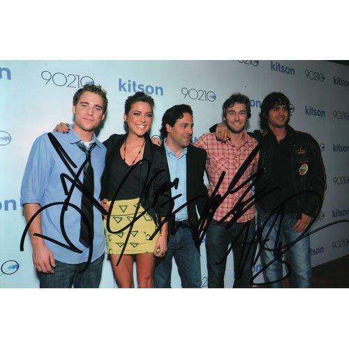 New 90210 Cast 4 SIGNED 4X6 PHOTO + COA