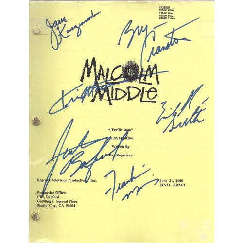 MALCOLM IN THE MIDDLE SIGNED SCRIPT (6) SIGNATURES + COA