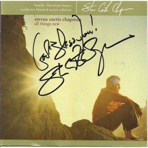 STEVEN CURTIS CHAPMAN SIGNED CD