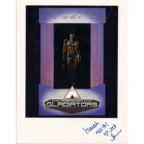 "AMERICAN GLADIATORS ""JET"" SIGNED 8x12 PHOTO"