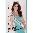 MISS FLORIDA USA MEGAN CLEMENTI SIGNED 4X6 PHOTO + COA