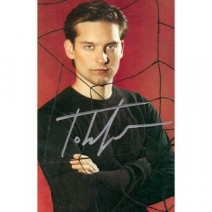 TOBEY MAGUIRE SIGNED 4X6 PHOTO + COA