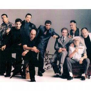 SOPRANOS (3) SIGNATURES SIGNED 8x10 PHOTO + COA