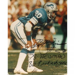 BILLY SIMMS SIGNED 8x10 PHOTO + COA
