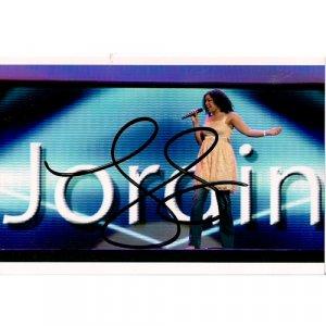 JORDIN SPARKS SIGNED 4x6 PHOTO + COA