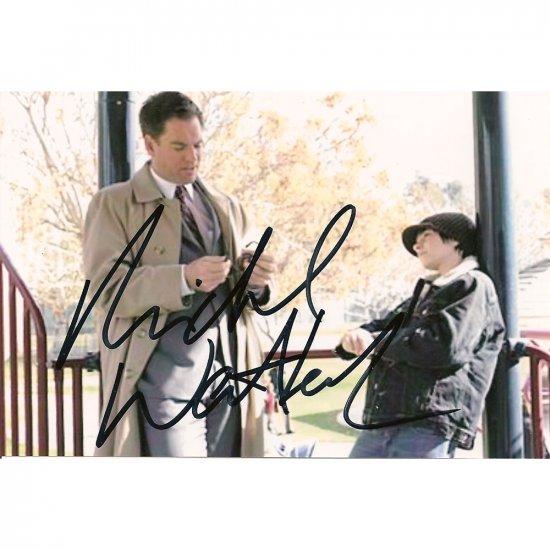 """""""NCIS"""" MICHAEL WEATHERLY SIGNED 4X6 PHOTO + COA"""