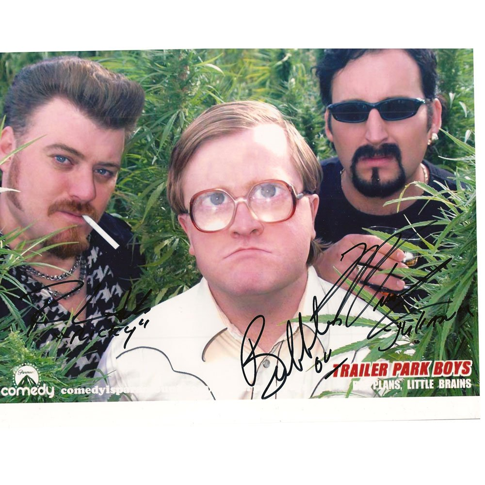 TRAILER PARK BOYS SIGNED 8x10 PHOTO + COA