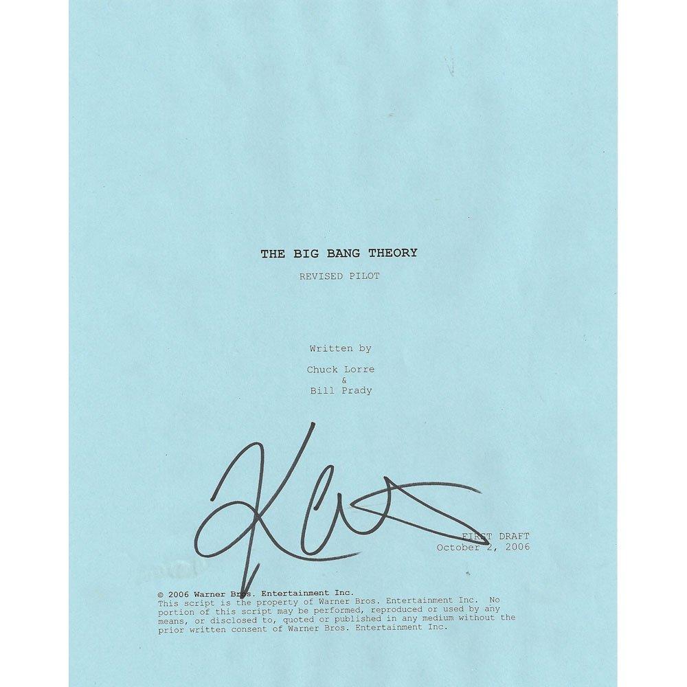 "THE BIG BANG THEORY ""PILOT"" SIGNED SCRIPT"