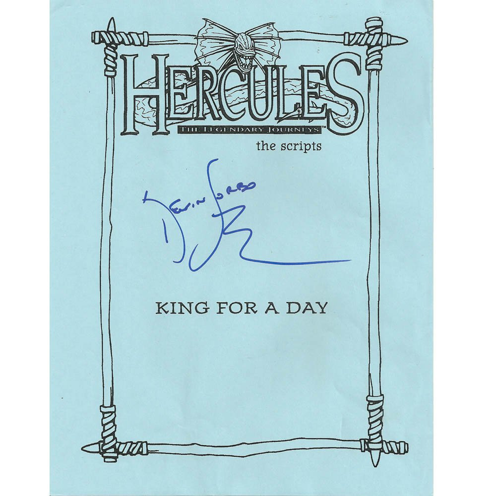 "Hercules ""King For a Day"" SIGNED SCRIPT Kevin Sorbo  + COA"