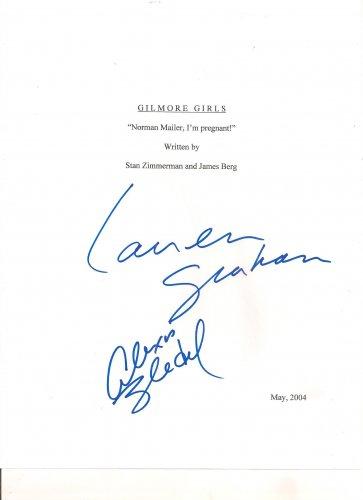 GILMORE GIRLS (Norman Mailer, I`m pregnant!) SIGNED SCRIPT + COA