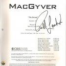 MACGYVER SIGNED (1) SIGNATURES SCRIPT + COA