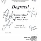 "DEGRASSI ""Summertime"" Part One SIGNED SCRIPT (6) SIGNATURES + COA"