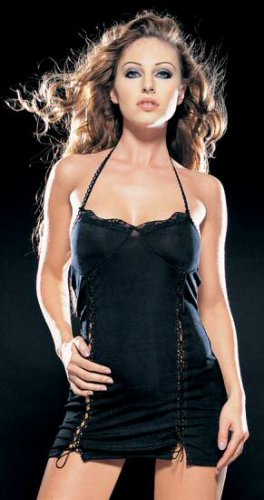 Slinky Dress with Double Lace Up Side