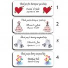 150 Personalized Wedding Bubble Labels Wedding Party Favors