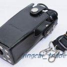 Hard Leather Case For Motorola 2-Way Radio GP328 GP340