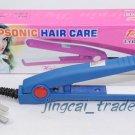 Compact Straightener Mini Hair Iron Portable Blue New!
