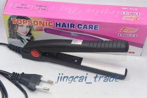 Compact Straightener Mini Hair Iron Portable Black New!