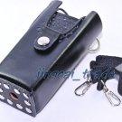 Hard Leather Case For Motorola 2-Way Radio GP88 GP300