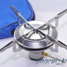 Brand New! Round Portable Stainless Steel Camping Stove Picnic Stove