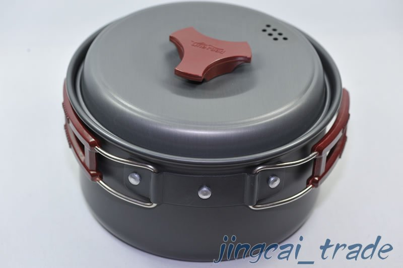 Camping Single Pot Cookware Hiking Backpacking Cooking Cookout Picnic Pot RT-201