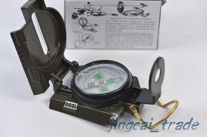 3 in 1 Hiking Camping Military Marching Lensatic Lens Metal Compass