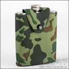 Brand New! Stainless Steel Hip Flask Liquor Alcohol With Camouflage Pouch 7oz
