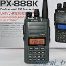 Army Green ! Puxing PX-888K Dual-Band UHF & VHF Dual-Display Dual-Standby Radio