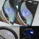 Pair ( 2 x ) BLUE BICYCLE LED SPOKE LIGHTS BIKE WHEEL LIGHTS BE SAFE BE SEEN