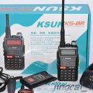 7 Watt KS-8R UHF 400-520 & VHF 136-174 Dual-Band Dual-Display Dual-Standby Radio
