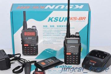 7 Watt KS-8R UHF 400-520 & VHF 136-174 Dual-Band Dual-Display Dual-Standby Radio