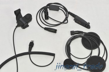 Motorcycle Helmet Headset Earpiece For Ham Radio for Motorola radio GP328 GP340